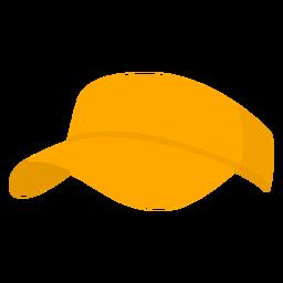 Pickleball de chapéu amarelo liso