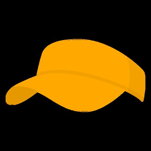 Hat yellow pickleball flat Transparent PNG