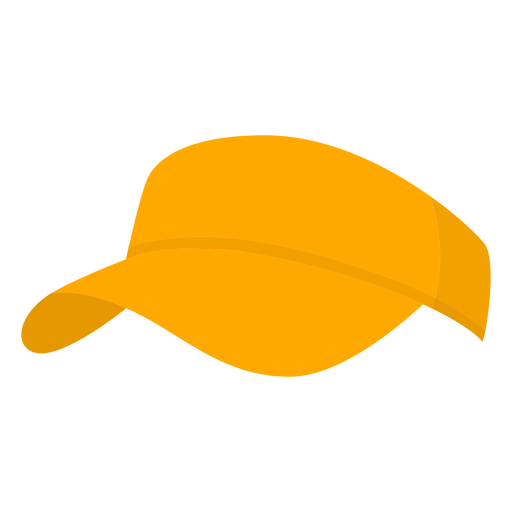 Hat yellow pickleball flat