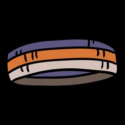 Dibujado a mano diadema baloncesto