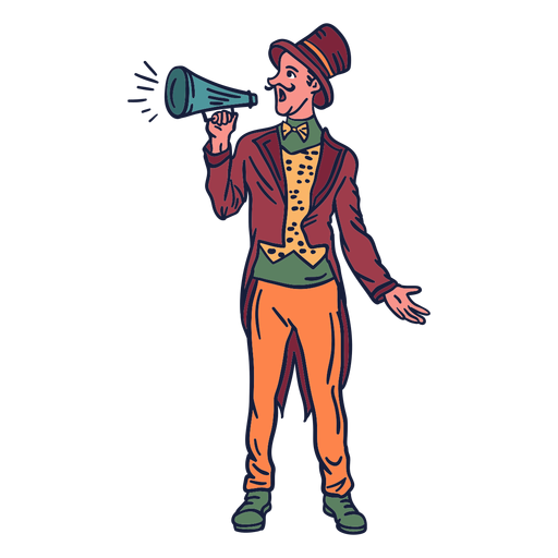 Host Zirkus Hand gezeichnet