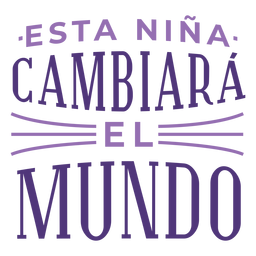 International womens day spanish change world lettering