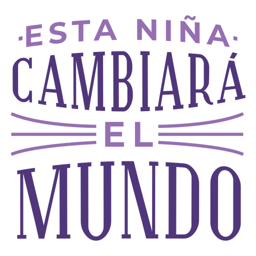 International womens day spanish change world lettering Transparent PNG