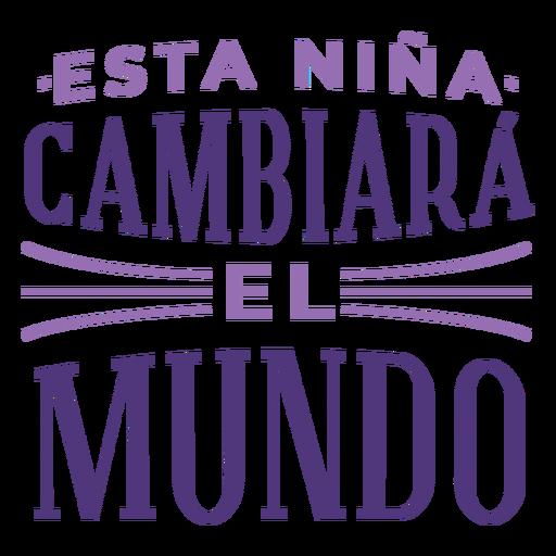 Letras espanholas do dia internacional da mulher mudam o mundo Transparent PNG