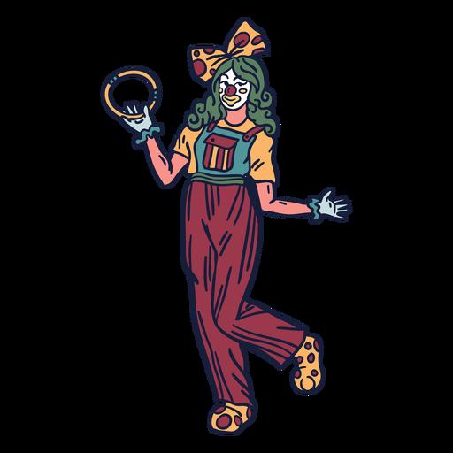 Joker Lady Zirkus Hand gezeichnet