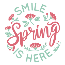 Lettering spring is here flat
