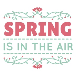 Lettering spring is in the air flat