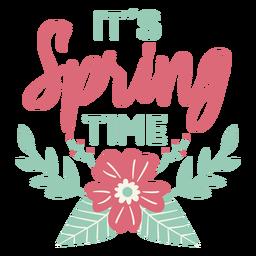 Letras de primavera plana