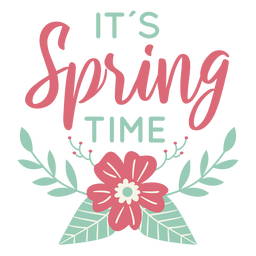 Lettering spring time flat
