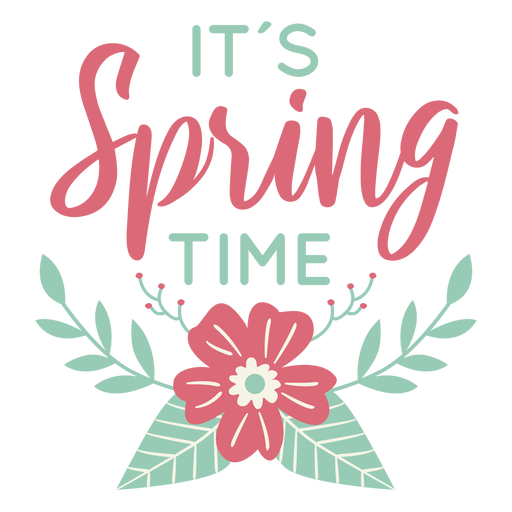 Lettering spring time flat