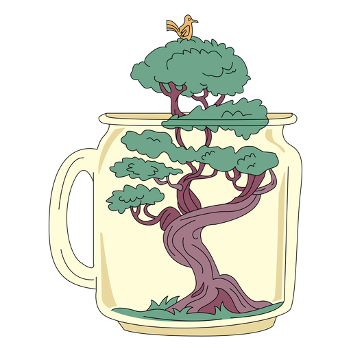 Mason jar art bonsai tree