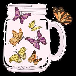 Einmachglas Kunst Schmetterlinge