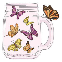 Mason jar art butterflies