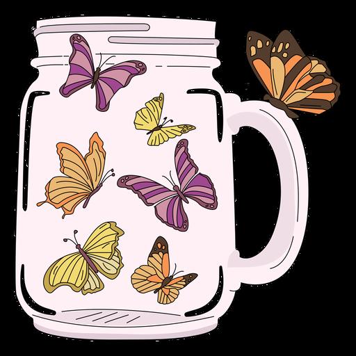 Mason jar art borboletas