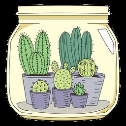 Mason jar art cactus