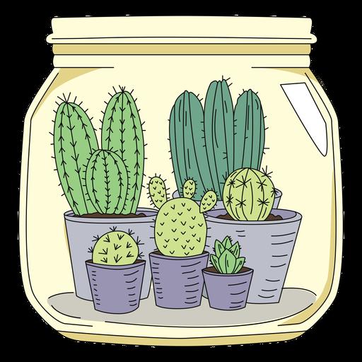 Mason jar art cactus Transparent PNG