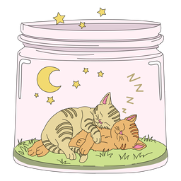 Mason jar art kitten