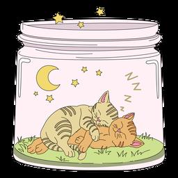 Mason jar arte gatinho