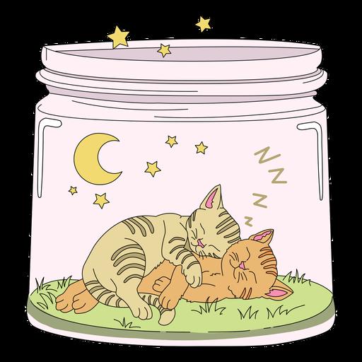 Mason jar art kitten Transparent PNG