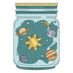 Mason jar art planets