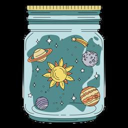 Mason jar planetas de arte