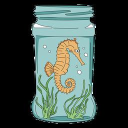 Mason jar arte caballito de mar