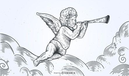 Hand gezeichneter Engel