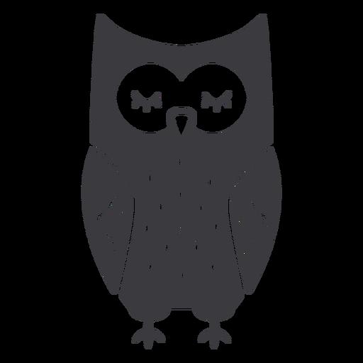 Owl dark eyes closed flat