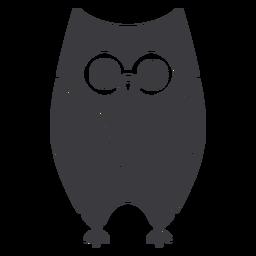 Owl dark eyes open stare flat