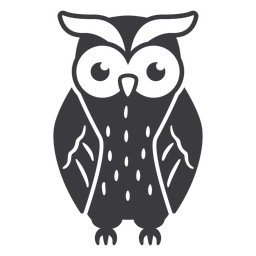 Owl dark hair eyes open flat