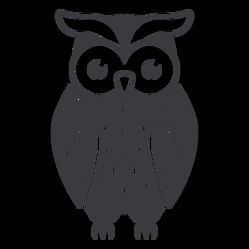Owl dark hair eyes open flat