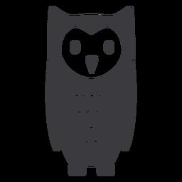 Owl dark slim eyes open stare flat