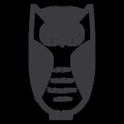 Owl eyes open stare flat