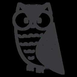 Owl glasses flat