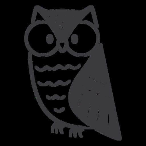 Owl glasses flat Transparent PNG