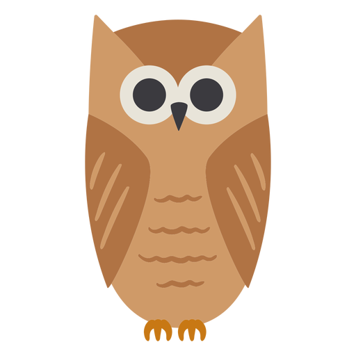 Owl light brown eyes open stare flat Transparent PNG