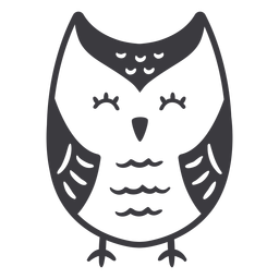 Owl light eyes closed flat