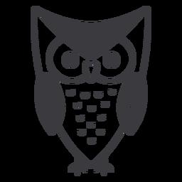 Owl light eyes open flat
