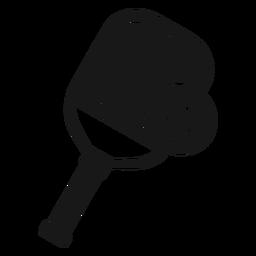Pelota de pádel pickleball negra