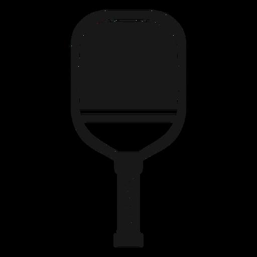 Paddle pickleball black Transparent PNG