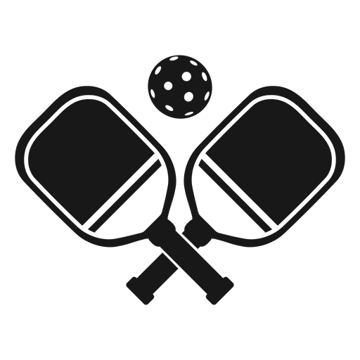 Palas pickleball negro Transparent PNG