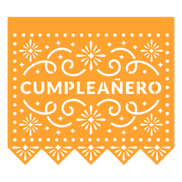 Papel picado birthday boy