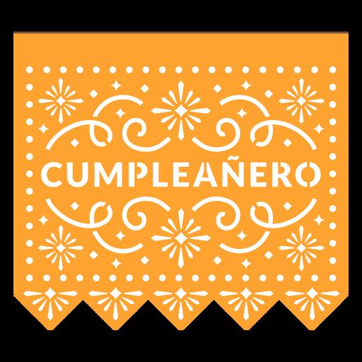 Papel picado birthday boy