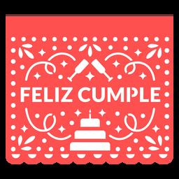 Papel Picado alles Gute zum Geburtstag