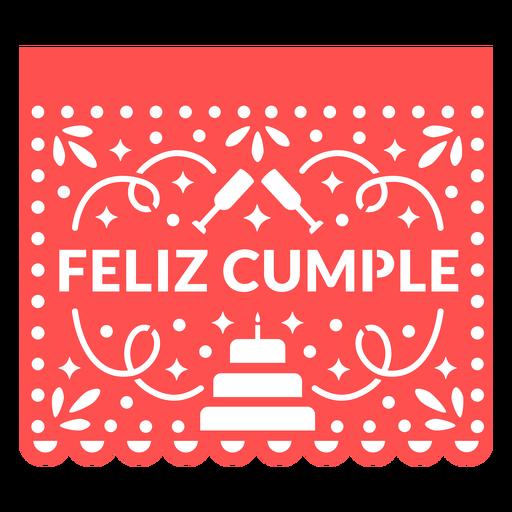 Papel picado happy birthday
