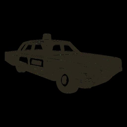 Police car black right Transparent PNG