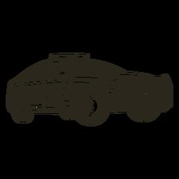 Luces de coche de policía modernas