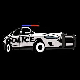 Coche de policía enciende derecha moderna