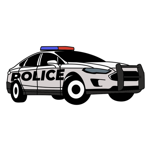 Police car lights modern right