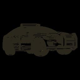 Carro de polícia luzes moderno curso certo